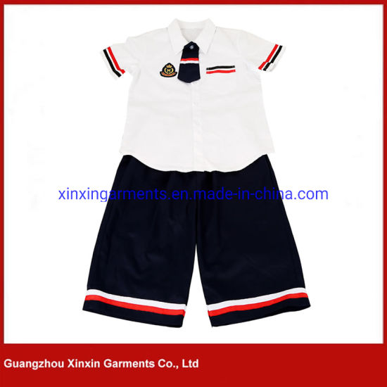 Casual Formal Custom School Shirt School Uniform for Middle School Students Can Book Pants and Skirts Made in China (U103)