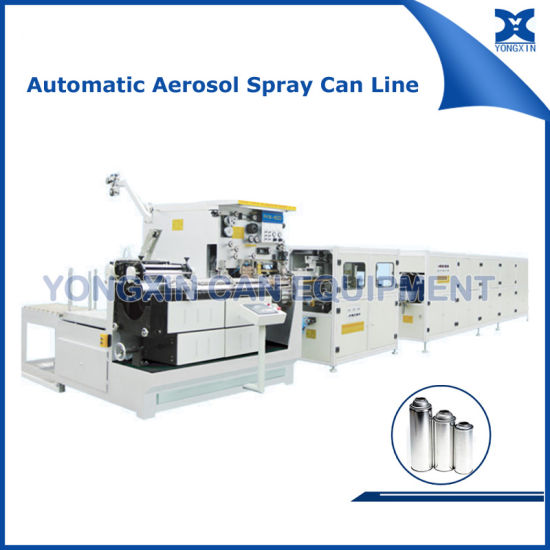 Complete Automatic Aerosol Spray Tinplate Cans Production Line