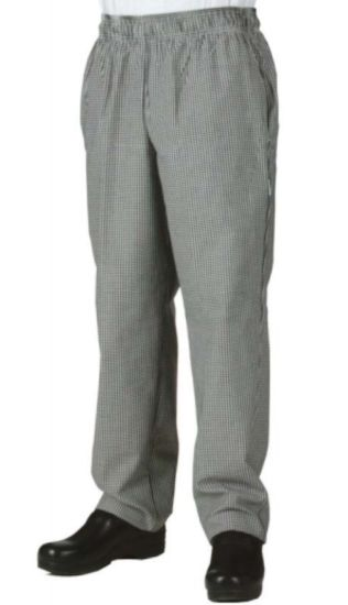 Customized Fashion Workwear Small Check Baggy Chef Pant Kitchen Uniforms