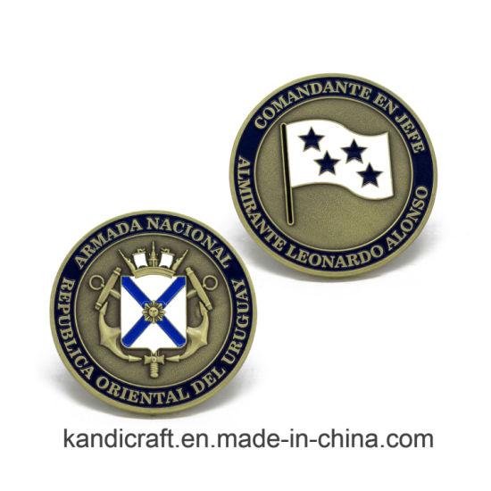 Custom Wholesale ODM Silver Trump Double Metal Precision Metal Coin Antique  Antiqu Ripple Commemorative Souvenir Challenge Coin for Promotional Gift