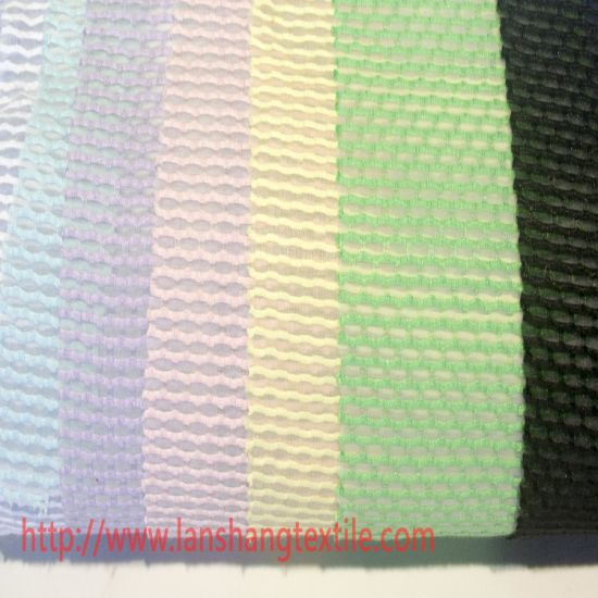 Dyed Jacquard Rayon Polyester Fabric for Woman Dress Garment Curtain