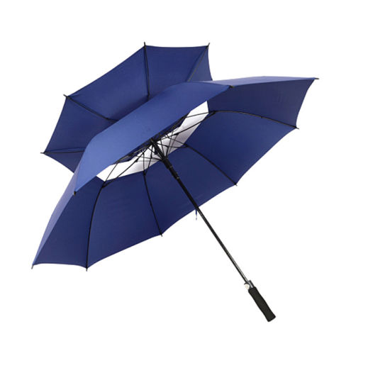 Straight Golf Umbrella with Customized Printing 30 Inch Polyester Cloth with EVA