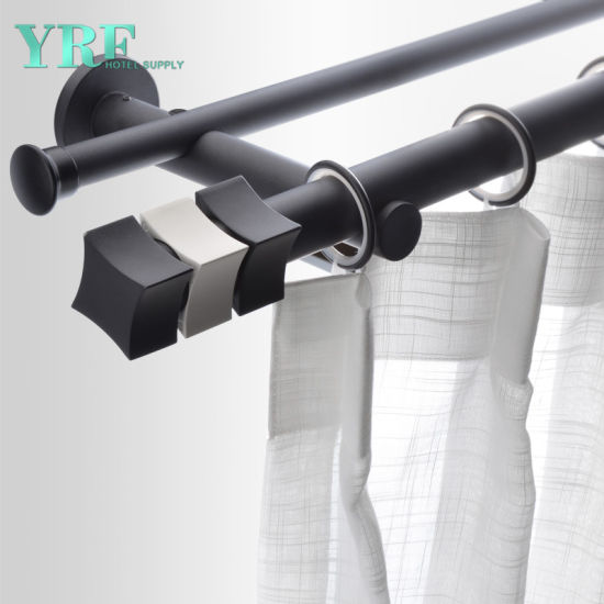 Chinese Guangzhou Manufacturer Fine Line Black Curtain Rods