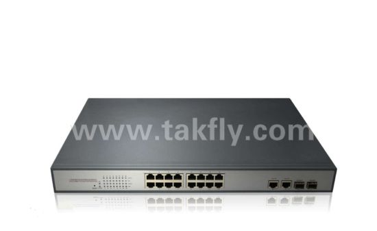 Power Over Ethernet Switch 16-Port Gigabit Poe Switch/Poe Network Switch pictures & photos