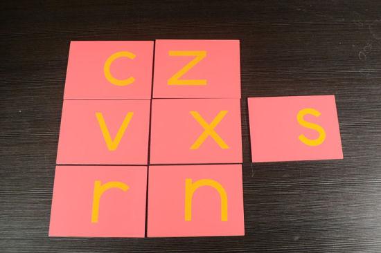 NEW Montessori Language Material Wooden Box for Sandpaper Letters