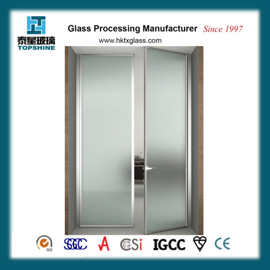 China Interior Frosted Glass Doortempered Glass Doorfrosted Glass