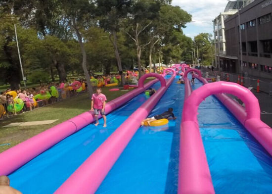 2019 New Amusing Giant Inflatable City Slide for Children and Adult pictures & photos