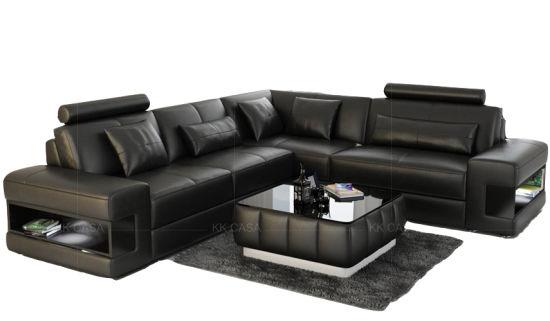 China Luxury Leather Sofa Living Room