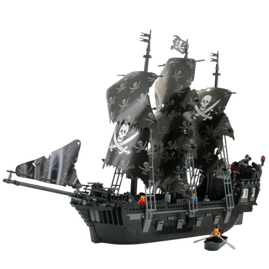 China 14887010-1184PCS Corsair Black Pearl Ship Large Model