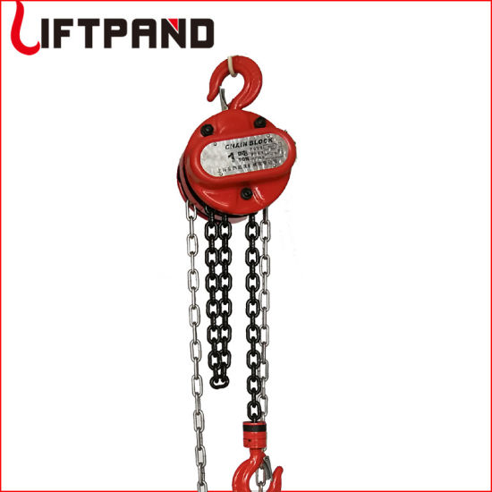 1 Ton 3M Heavy Duty Chain Hoist Winch Pulley Lift Car Engine Heavy Load Lifting Tool Manual Hoist with Hook Chain Block Hoist