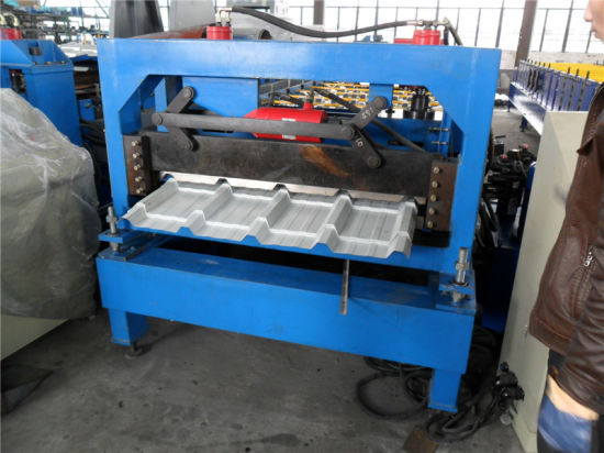 Trapezoidal Color Metal Tile IBM Roof Sheet Roll Forming Machine pictures & photos