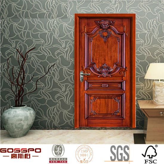 Apartment House Malaysian Oak Interior Wood/Wooden Swing Doors (GSP2-070)