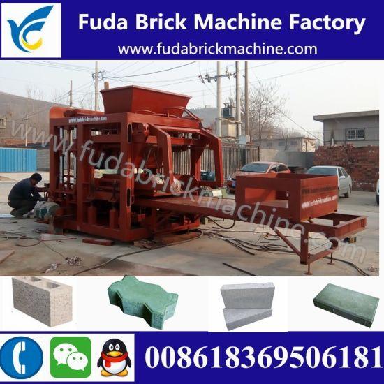 Fuda Qt10-15 Hydraulic Concrete Solid Brick Machine/Color Paver Brick Machine