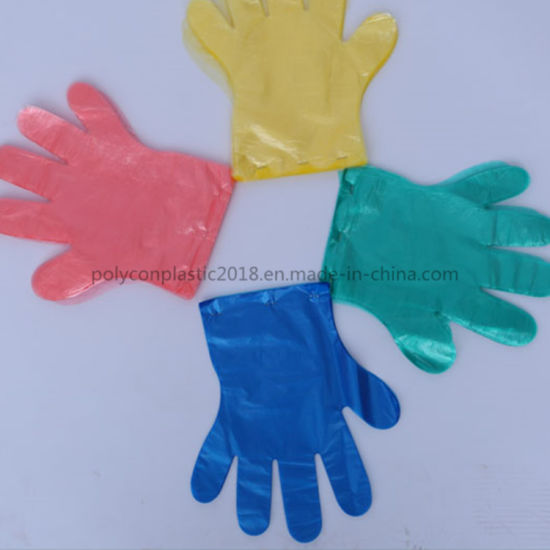 Transparent Clear PE Disposable Plastic Gloves for Food