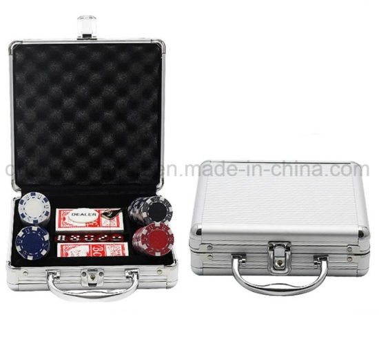 OEM High Quality Aluminum Handle Poker Chip Box Case