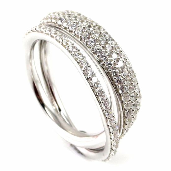 Fashion Jewelry with Sliver Ring with Cubic Zirconia R9984-3
