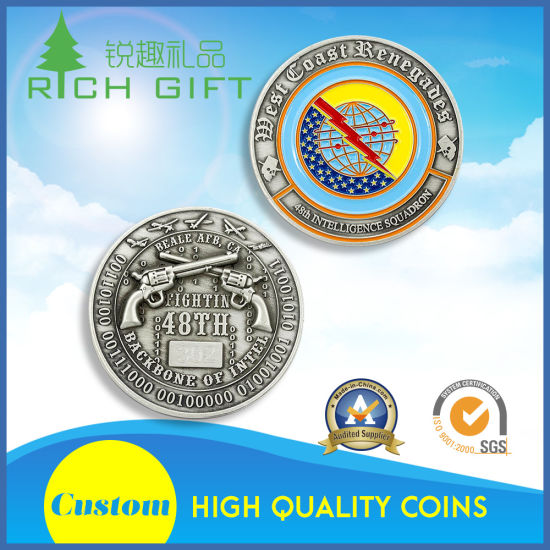 Factory Supply Design Personalized Army Enamel Logo Coin of Embossed pictures & photos