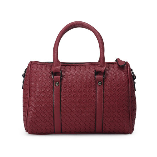 af6af21ddda China Fashionable Woven Bag PU Leather Womens Handbags - China Bag ...