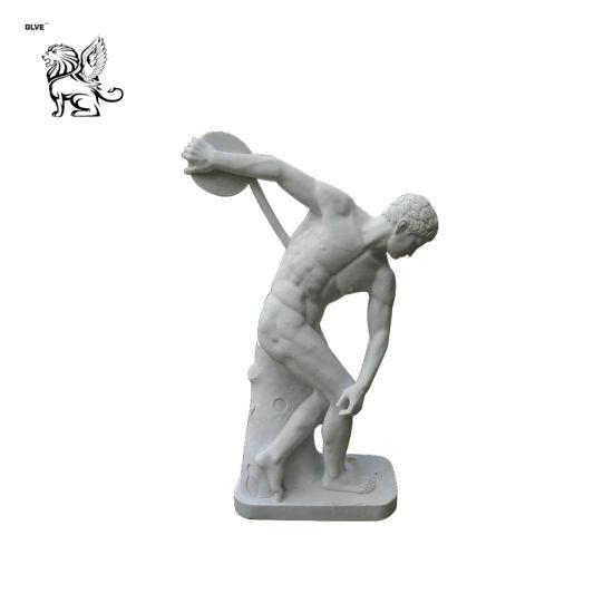 Famous Greek Roman Discobolus Marble Sculpture Statue Mfsg-33