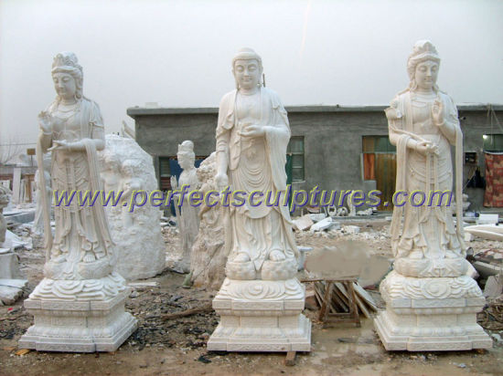 Antique Stone Marble Buddha for Temple Sculpture Statue (SY-T119)
