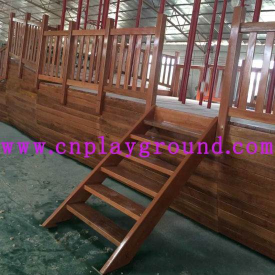 2018 Playground Wooden Pirate Ship Outdoor Playground Equipment (HD-5401) pictures & photos
