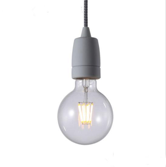Wholesale E27 LED Edison Lamp Various Color DIY Silicone Chandelier Bulb Holder