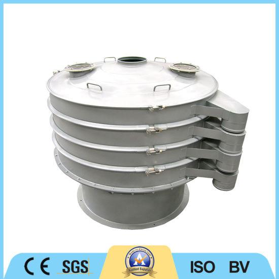 Powder Carbon Steel Round Rotary Classifier 4 Deck Vibrating Screen Sieve Machine