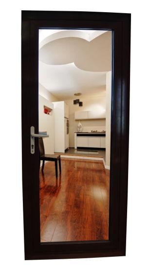 China Black Color Thermal Break Aluminium Outswing French Door