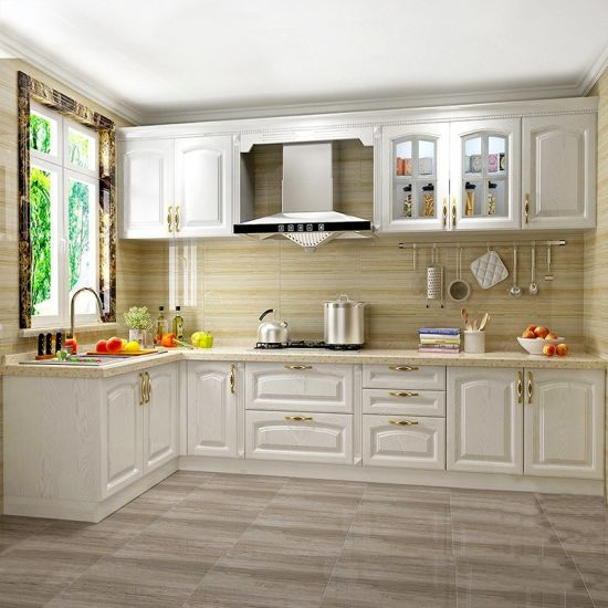Foshan Factory High Quality White Oak Solid Wood Kitchen Furniture Home  Cabinet (ACS2-W101)