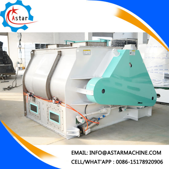 China Industrial Use Double Shaft Paddle Animal Poultry Feed Mixers