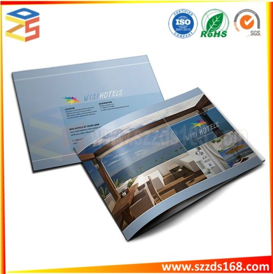 china unique brochure printing pamphlet paper printing accordiong