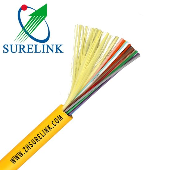 Yellow Tight Buffer Indoor Distribution Fiber Optical Cable GJFJV pictures & photos