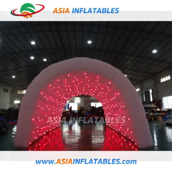 Inflatable Event Tunnel Tents / LED Inflatable Party Tent for Night