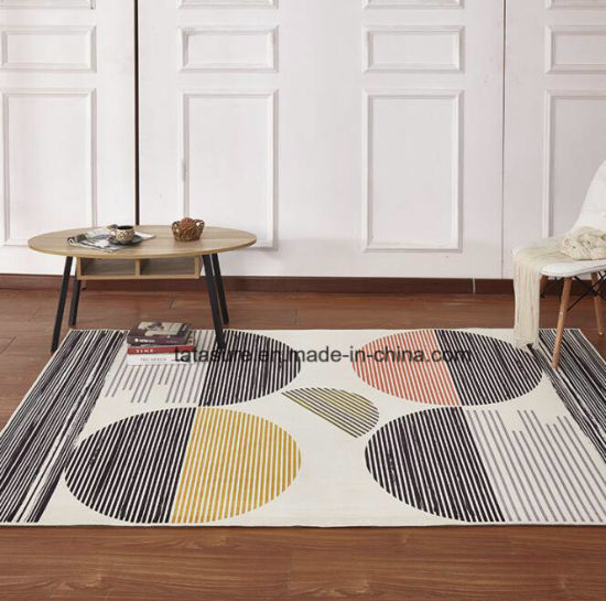 China Polyester Printed Carpet Home Area Rugs Living Room Bedroom