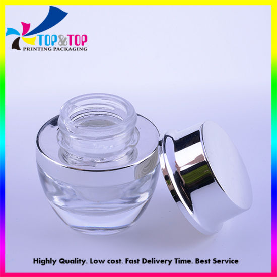 Small Round Glass Cream Jar for Cosmetic Packaging pictures & photos