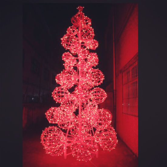 shopping mall led holiday lighting red outdoor led christmas tree