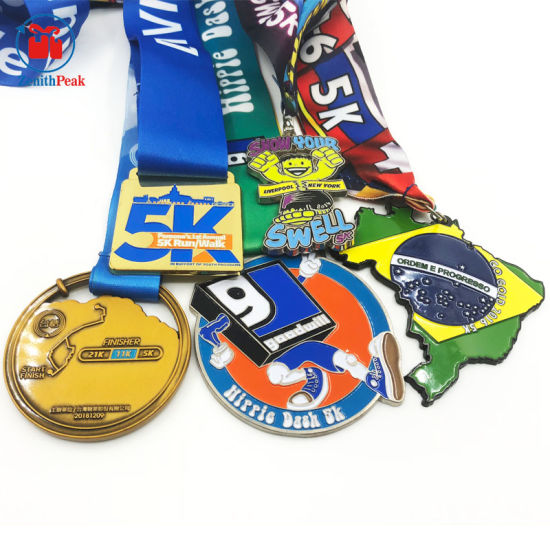 Custom Metal Zinc Alloy Plating Gold Silver Cooper Half Marathon 5K 10K Medal pictures & photos