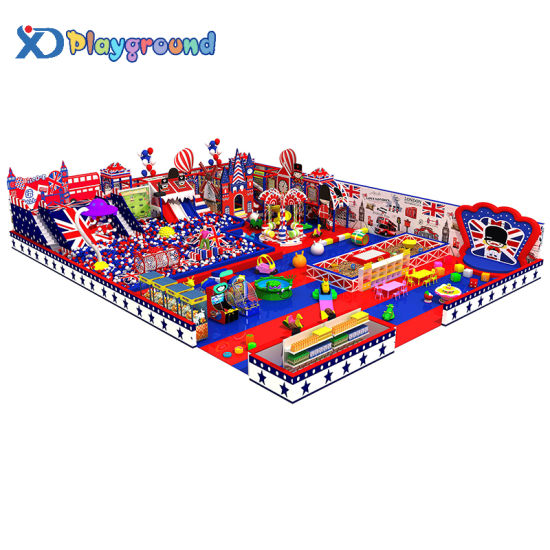 Customized Commercial Indoor Playground Equipment with Big Slide and Ball Pool