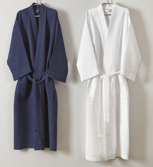 9bcf92291c China 100% Cotton Waffle Women Bath Robe with Hood (JRD389) - China ...
