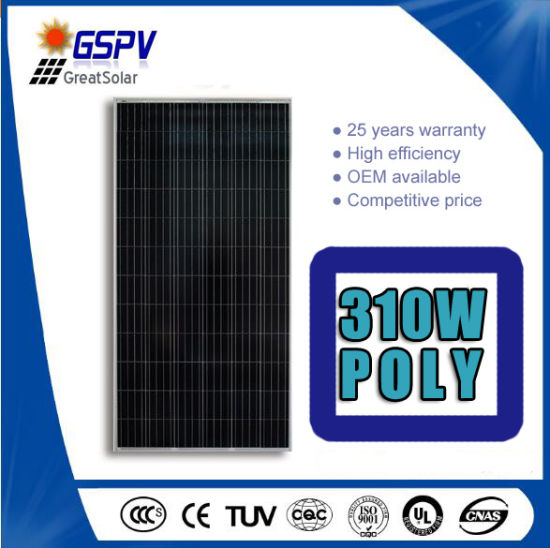 Top 1 A Grade Polycrystalline 300W 310W 320W Solar Panel pictures & photos