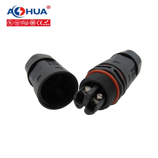 IP67 UL 2 3 4 Pin Outdoor Indoor Cable Waterproof Connector LED Connector pictures & photos