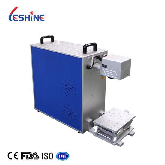 20W 30W Metal Laser Engraving Machine Portable Gold Color Fiber Laser Marking Machine