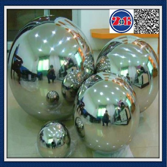 Mirror Polished Stainless Steel Hollow Ball Sphere Garden Sphere