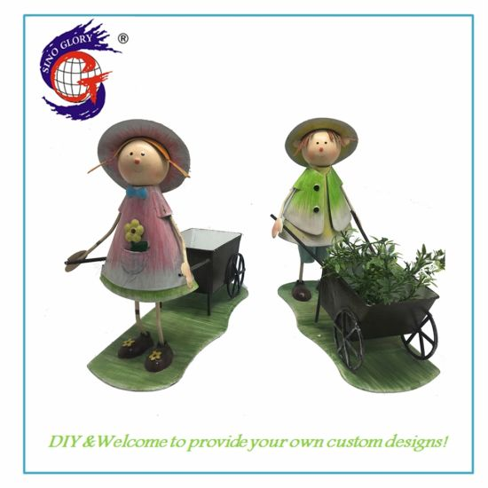 Cute Beautiful Boys and Girls Sculpture Shaped Succulent Cactus Flower Pot Plant Pots Planter Container for Home Garden Office Desktop Decoration