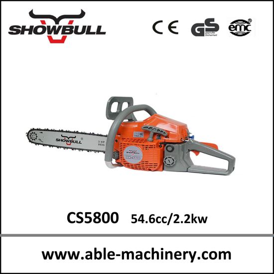 Professional Small Gas Chainsaw, Petrol Chainsaw 5800 pictures & photos