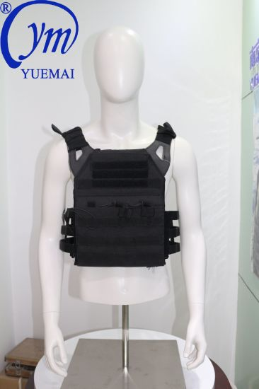 Black Nylon Ballistic Bulletproof Anti-Stab Military Tactical Body Armor Vest
