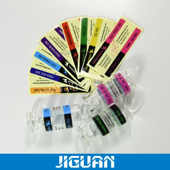Promotion Transparent 10ml Vial Labels for Steroid