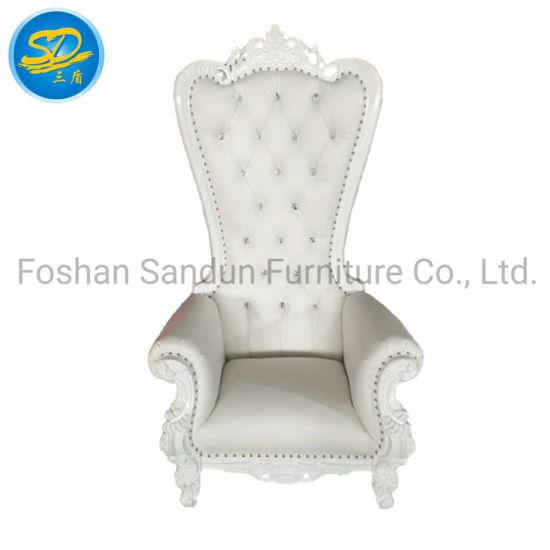 Hot Selling Solid Wood Luxury Design Wedding Throne Sofa Chair