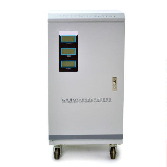15kVA Three Phase Servo Motor AC Automatic Voltage Regulator with LCD