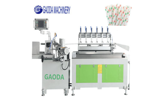 9th Generation Gdm6-1 Automatic Paper Straws Making Machine